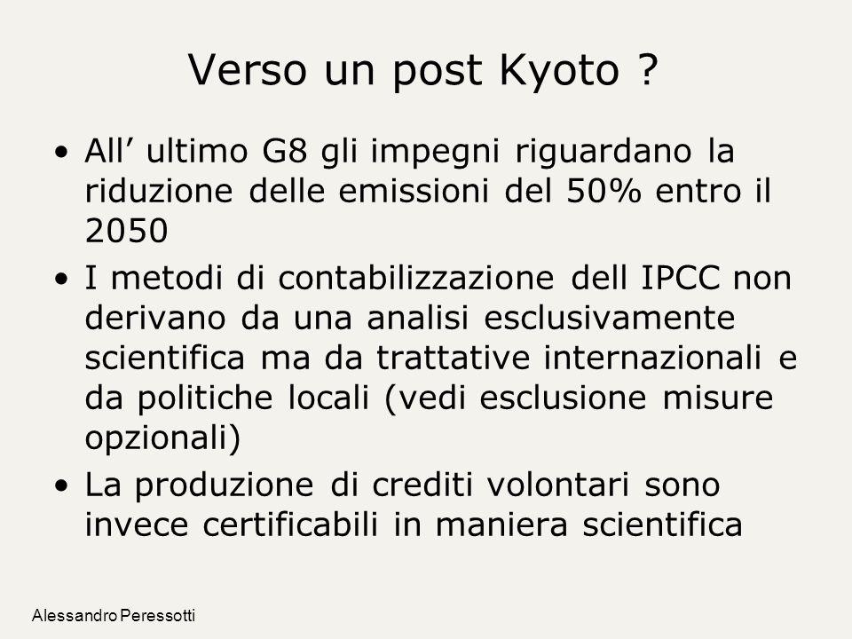 Verso un post Kyoto All' ultimo G8 gli impegni riguardano la riduzione delle emissioni del 50% entro il 2050.