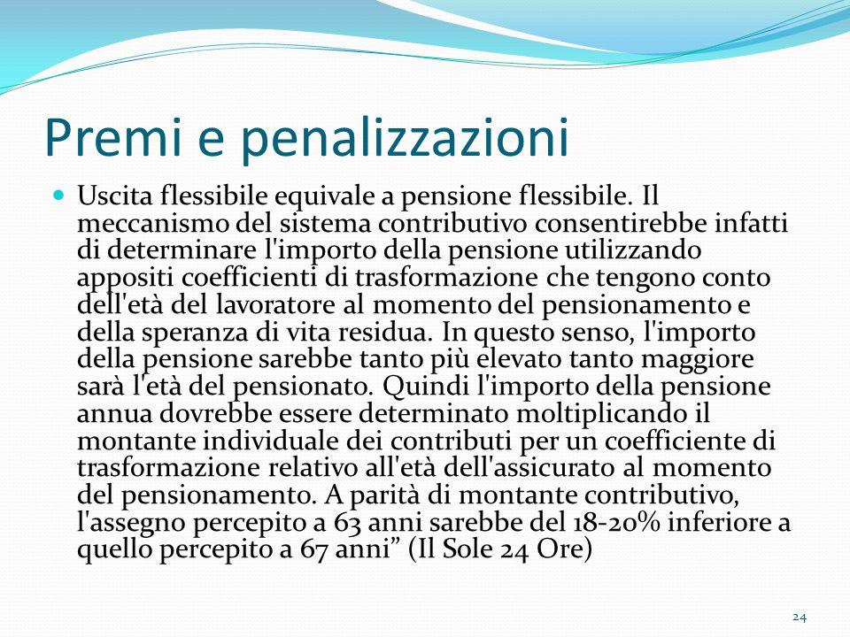 Premi e penalizzazioni