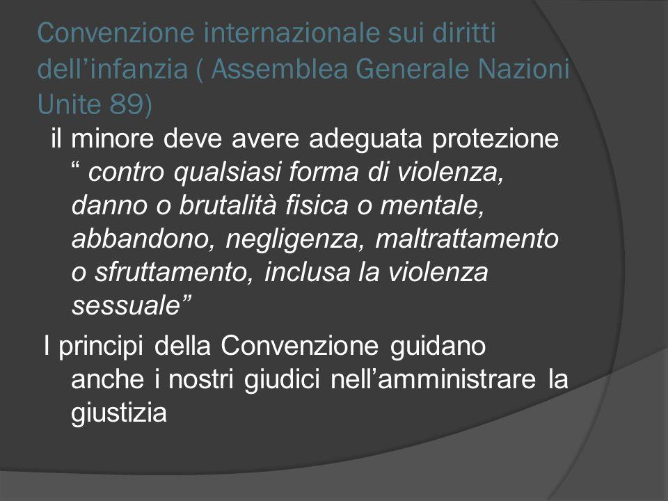 Convenzione internazionale sui diritti dell'infanzia ( Assemblea Generale Nazioni Unite 89)