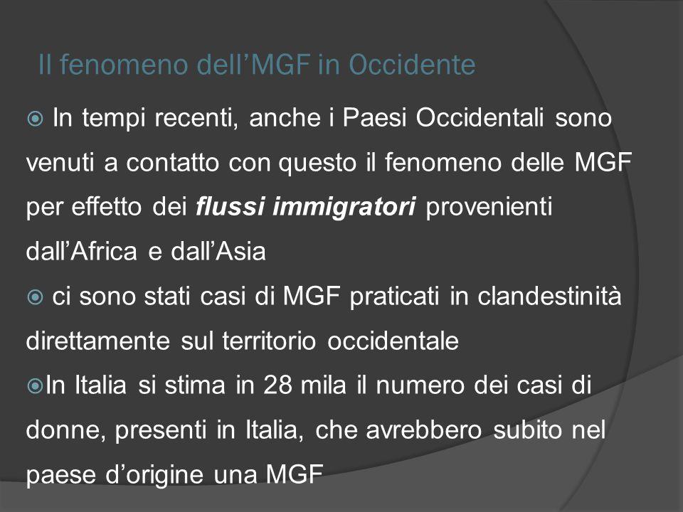 Il fenomeno dell'MGF in Occidente