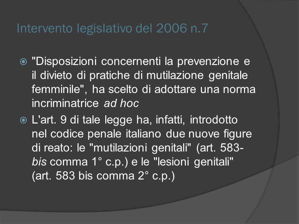 Intervento legislativo del 2006 n.7