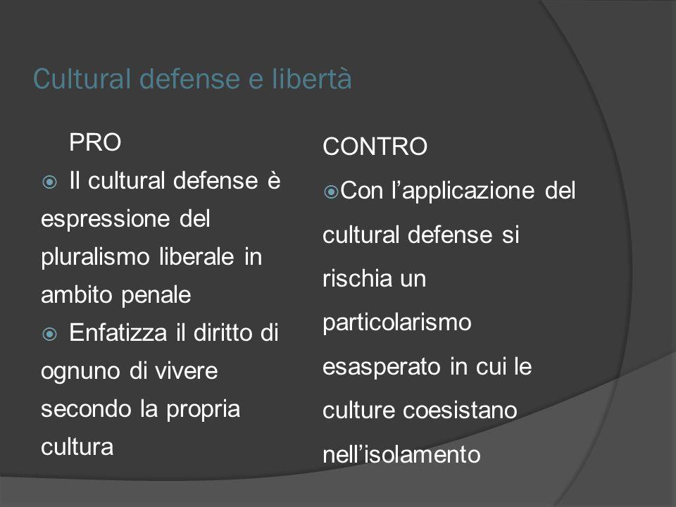 Cultural defense e libertà