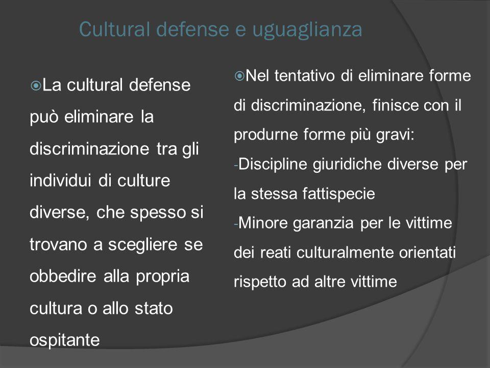 Cultural defense e uguaglianza