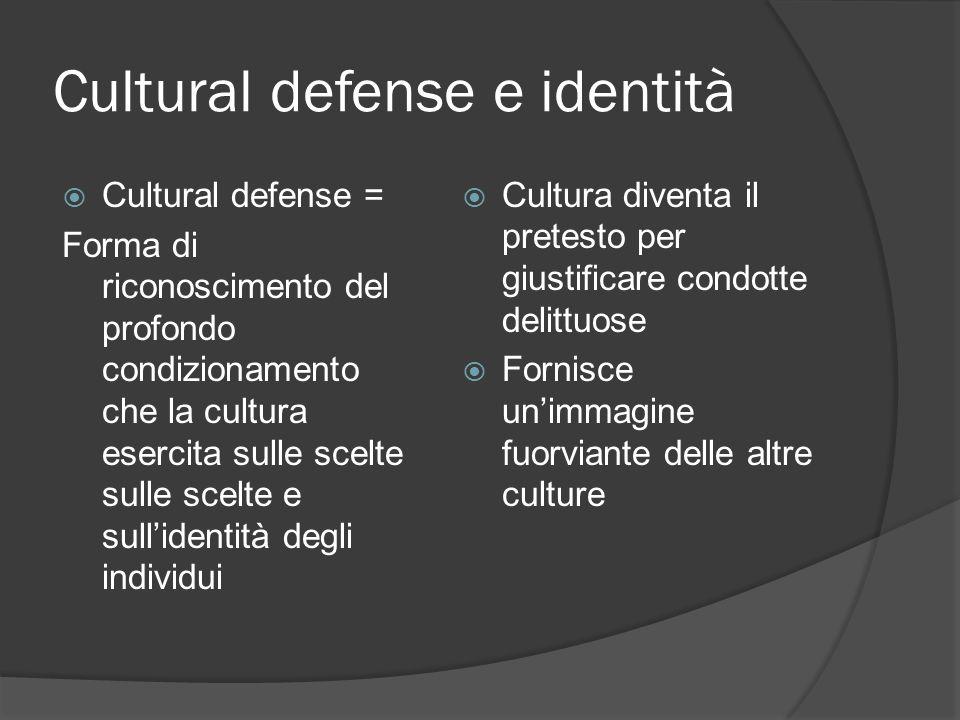 Cultural defense e identità