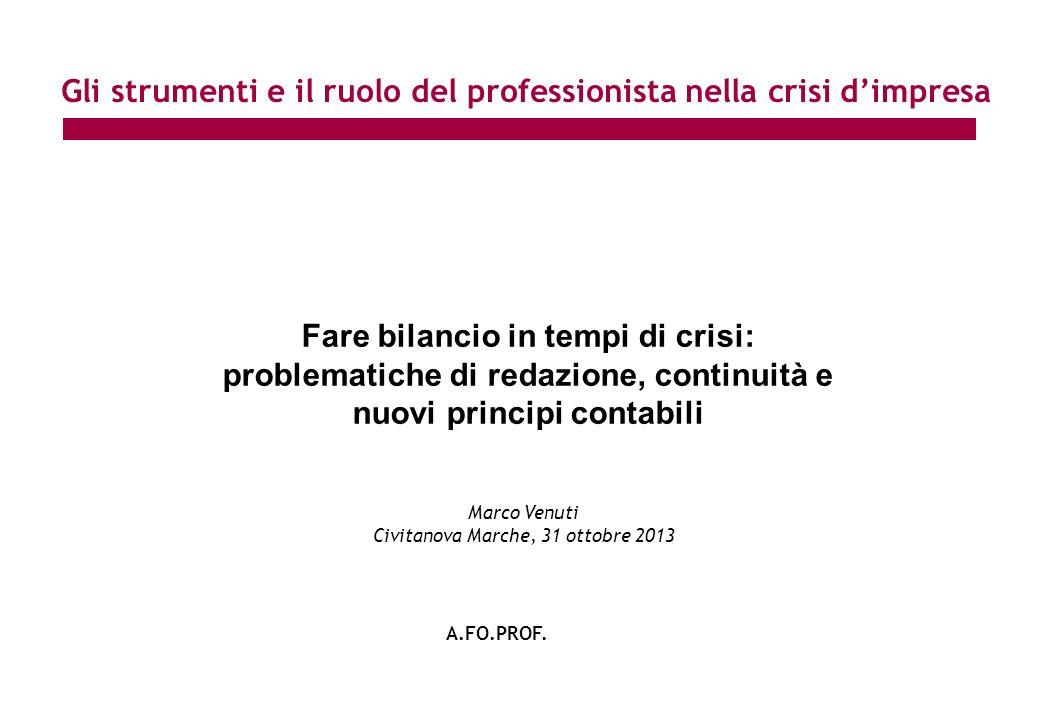 Gli strumenti e il ruolo del professionista nella crisi d'impresa