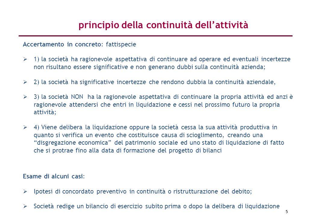 principio della continuità dell'attività