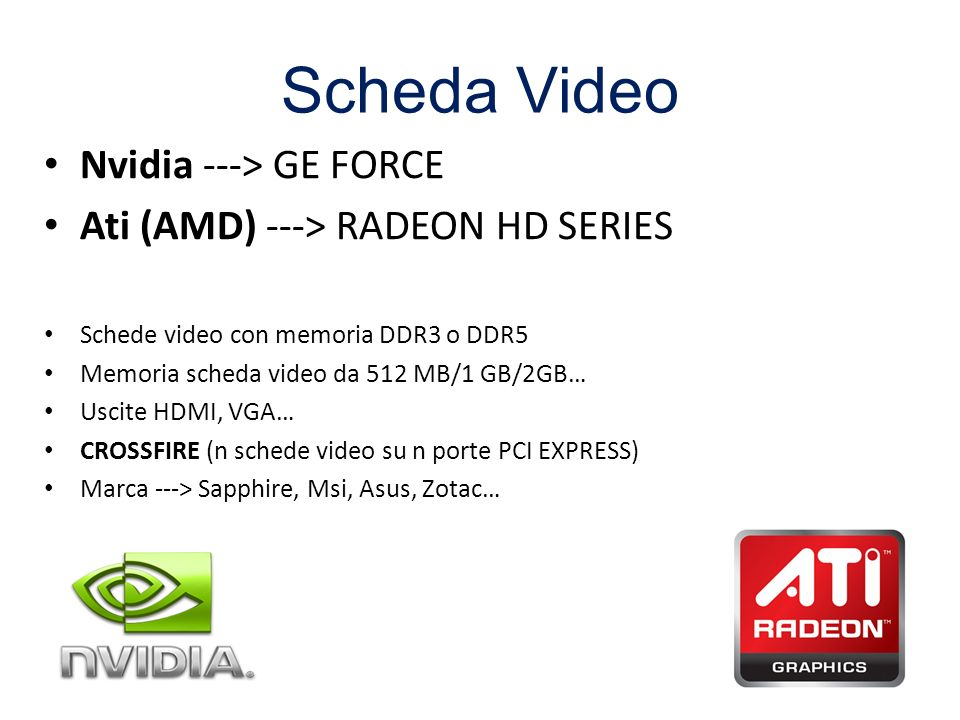 Scheda Video Nvidia ---> GE FORCE