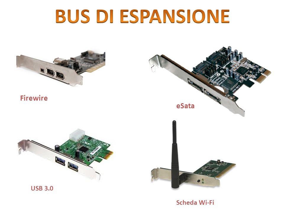 BUS DI ESPANSIONE Firewire eSata USB 3.0 Scheda Wi-Fi