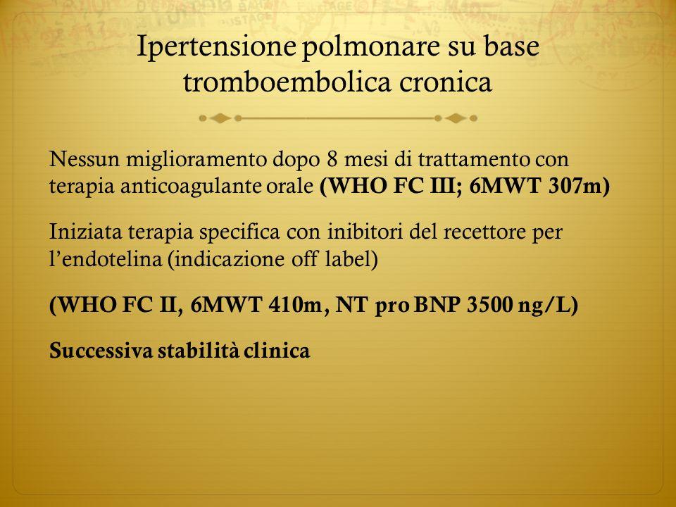 Ipertensione polmonare su base tromboembolica cronica