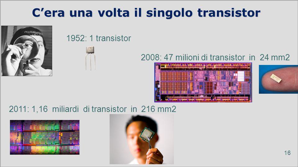 C'era una volta il singolo transistor