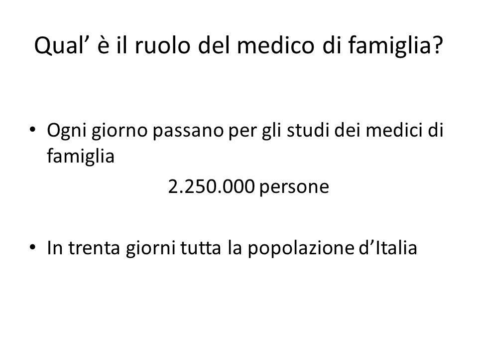 Qual' è il ruolo del medico di famiglia
