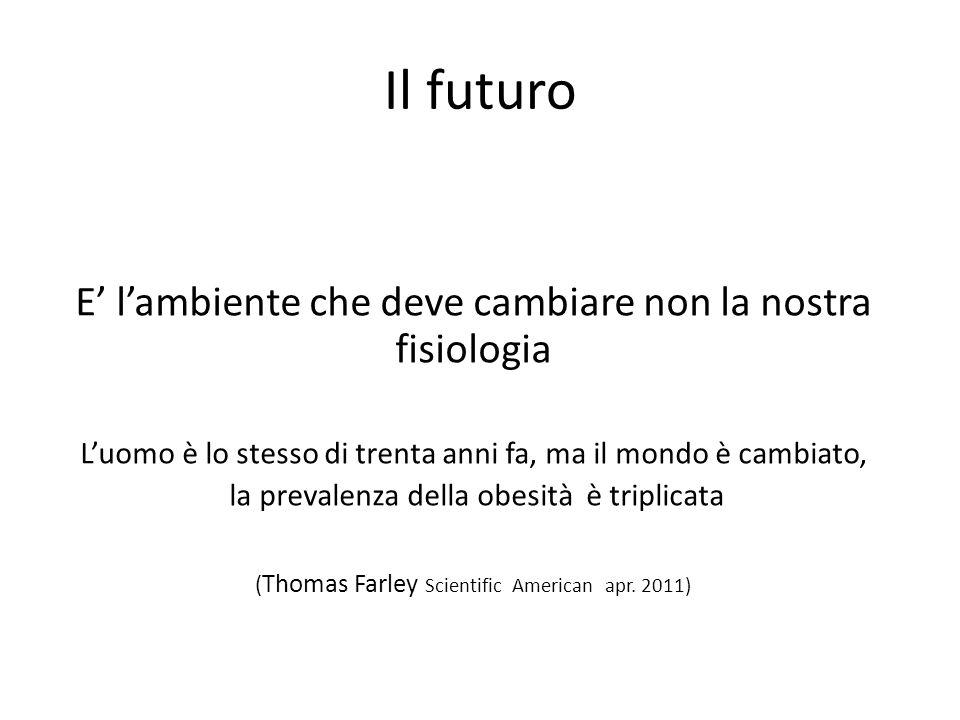 Il futuro E' l'ambiente che deve cambiare non la nostra fisiologia