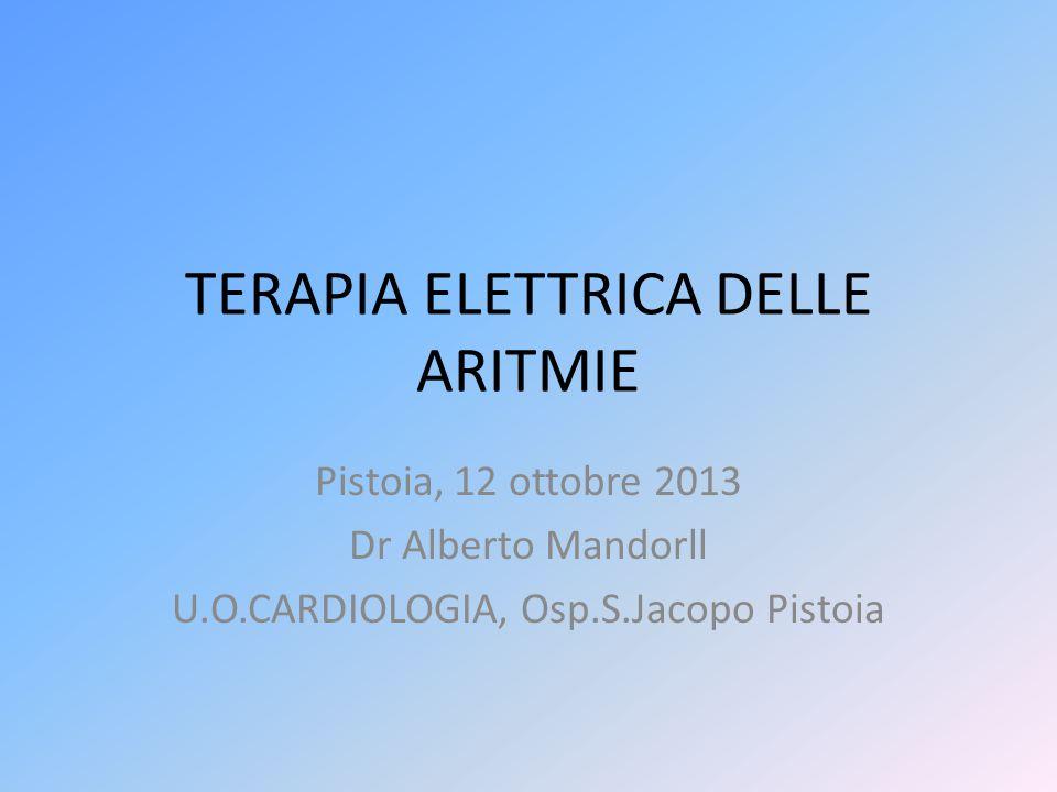 TERAPIA ELETTRICA DELLE ARITMIE