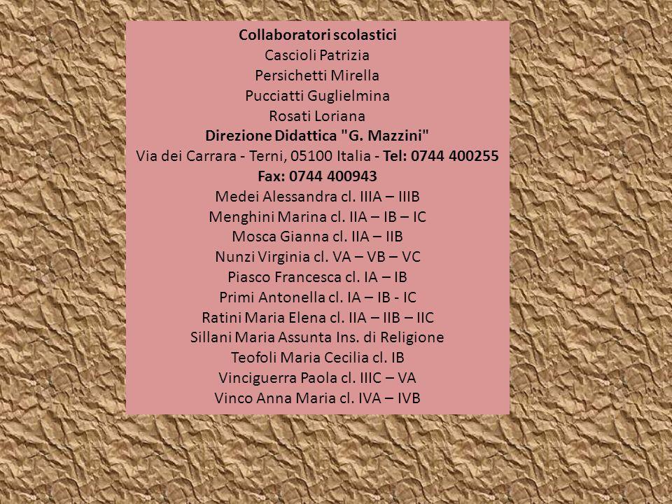 Collaboratori scolastici Direzione Didattica G. Mazzini