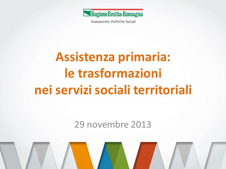 Assistenza primaria: le trasformazioni nei servizi sociali territoriali