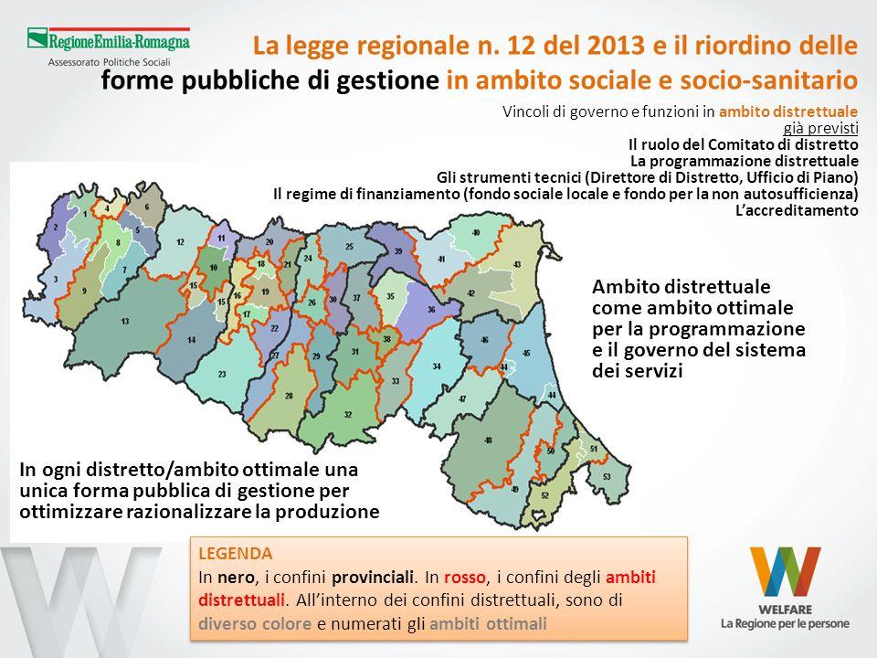 La legge regionale n. 12 del 2013 e il riordino delle forme pubbliche di gestione in ambito sociale e socio-sanitario
