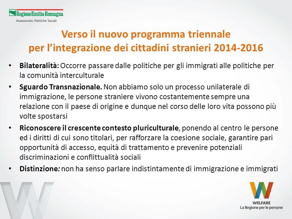 Verso il nuovo programma triennale per l'integrazione dei cittadini stranieri 2014-2016