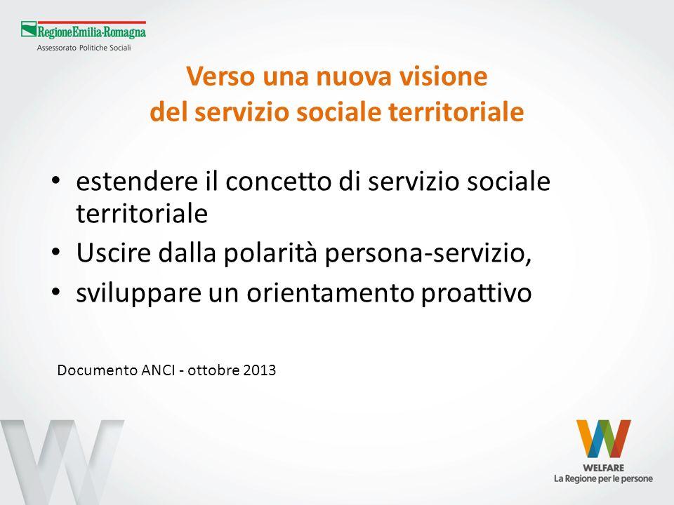 Verso una nuova visione del servizio sociale territoriale