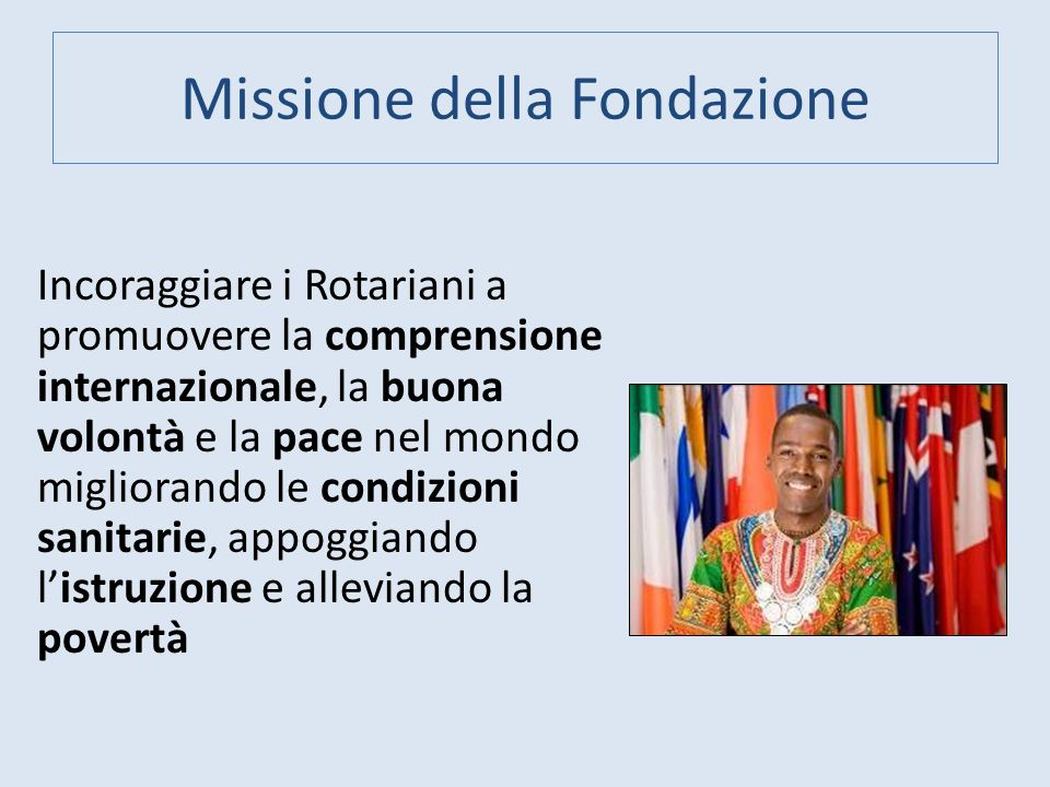 Missione della Fondazione