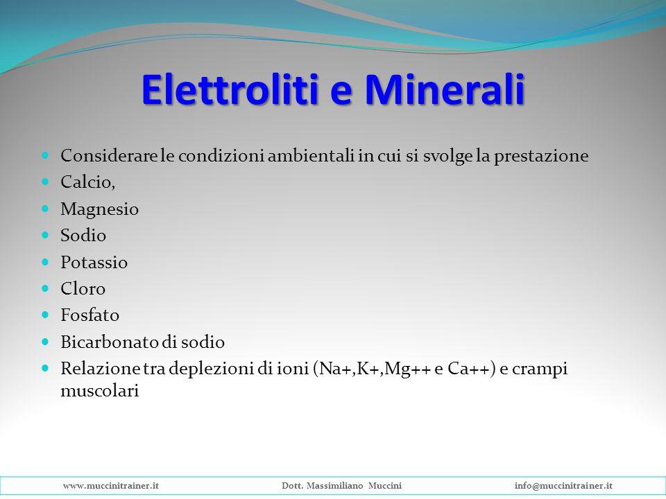 Elettroliti e Minerali