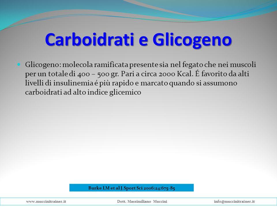Carboidrati e Glicogeno