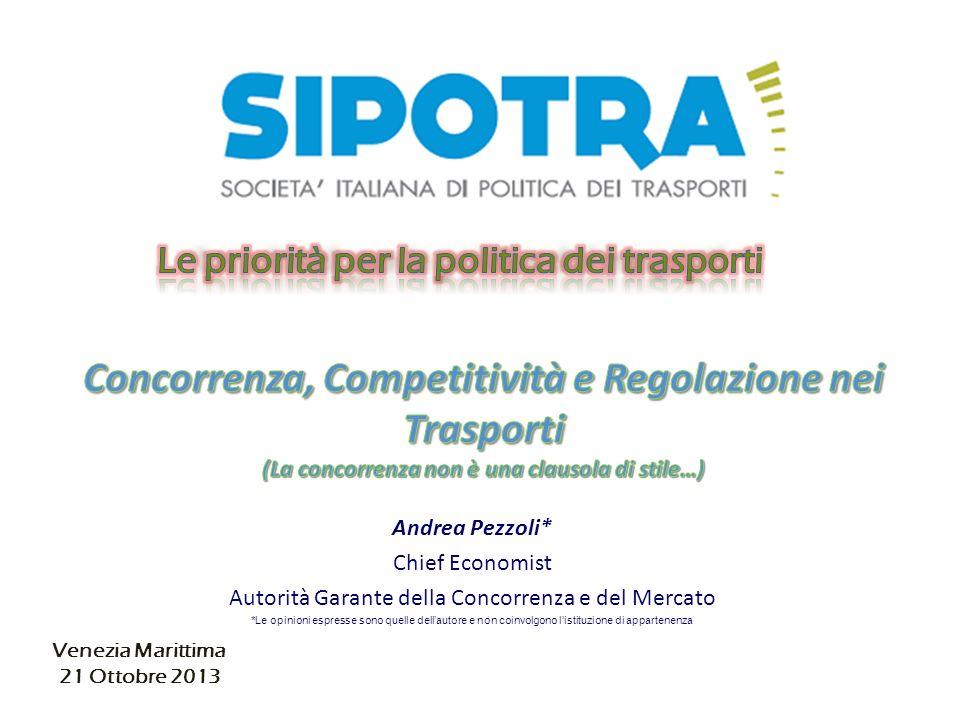 Le priorità per la politica dei trasporti