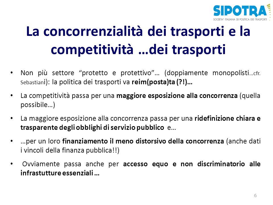 La concorrenzialità dei trasporti e la competitività …dei trasporti