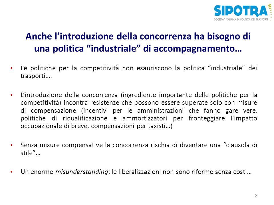Anche l'introduzione della concorrenza ha bisogno di una politica industriale di accompagnamento…