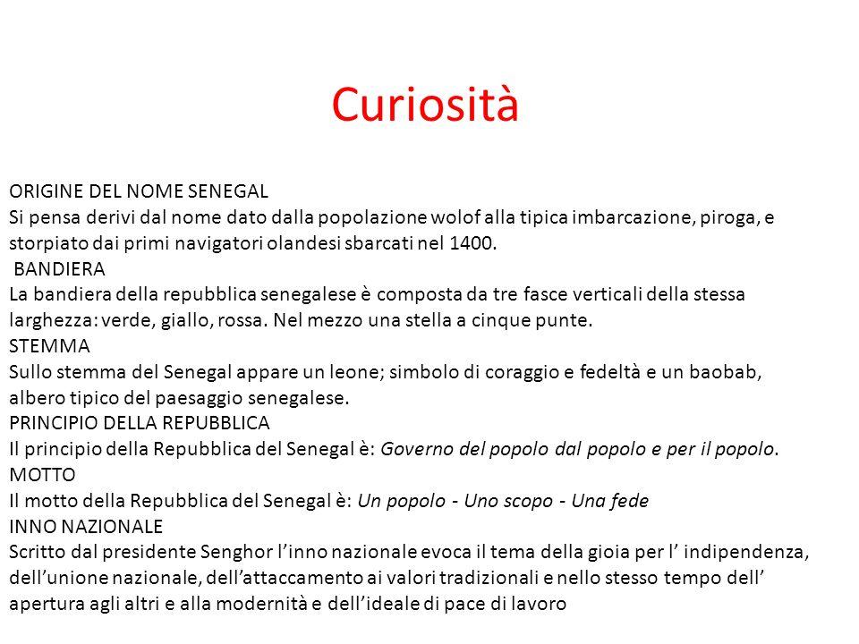 Curiosità ORIGINE DEL NOME SENEGAL