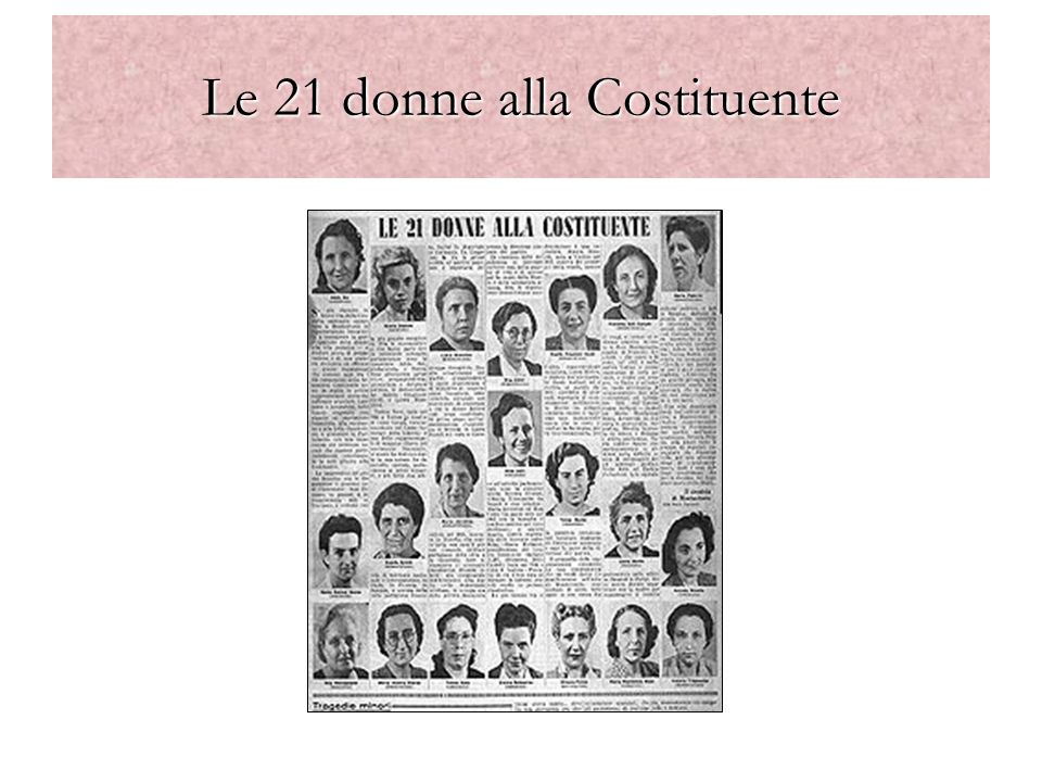 Le 21 donne alla Costituente