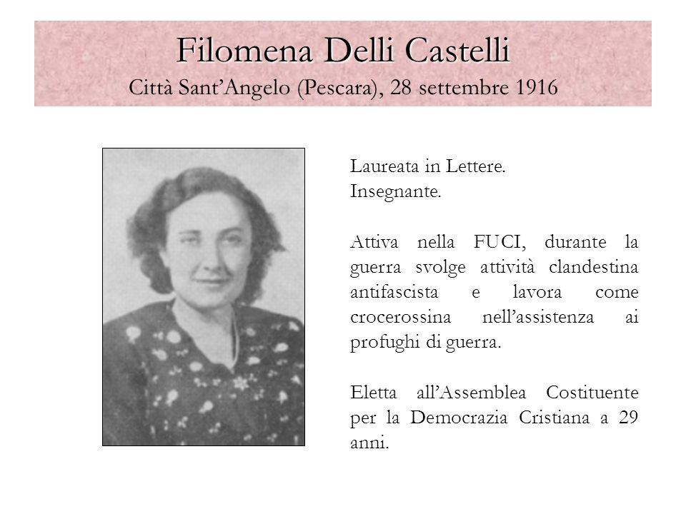 Filomena Delli Castelli Città Sant'Angelo (Pescara), 28 settembre 1916