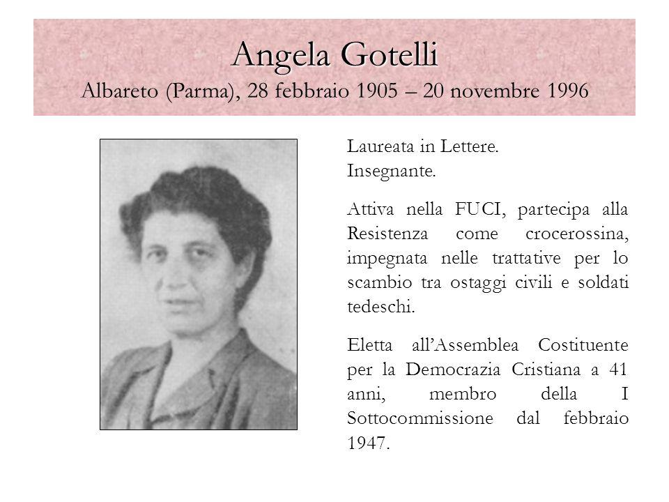 Angela Gotelli Albareto (Parma), 28 febbraio 1905 – 20 novembre 1996