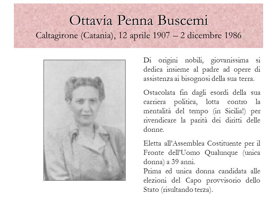 Ottavia Penna Buscemi Caltagirone (Catania), 12 aprile 1907 – 2 dicembre 1986