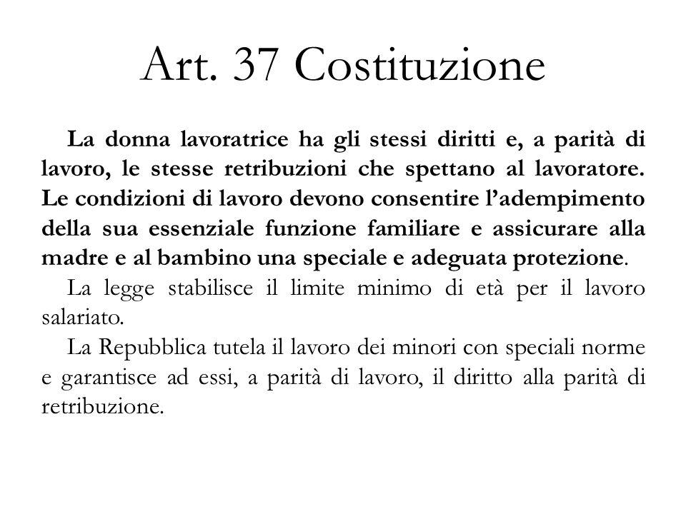 Art. 37 Costituzione