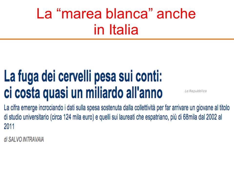 La marea blanca anche in Italia