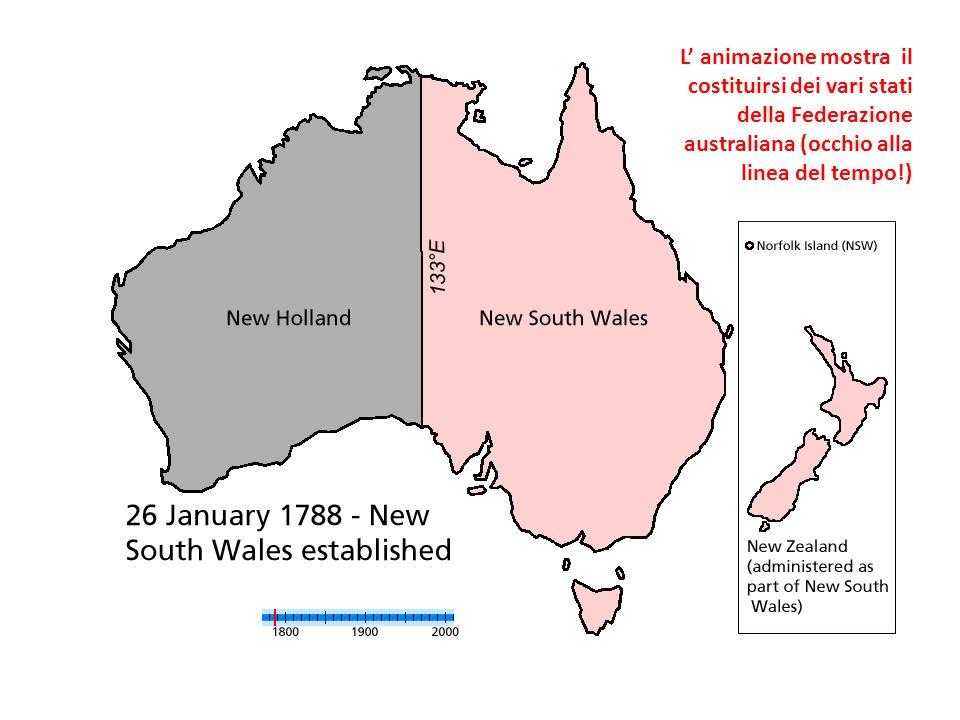 L' animazione mostra il costituirsi dei vari stati