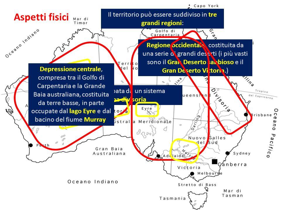 Il territorio può essere suddiviso in tre grandi regioni: