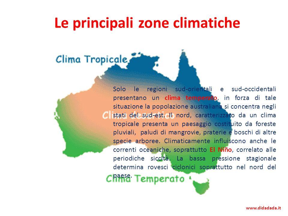 Le principali zone climatiche