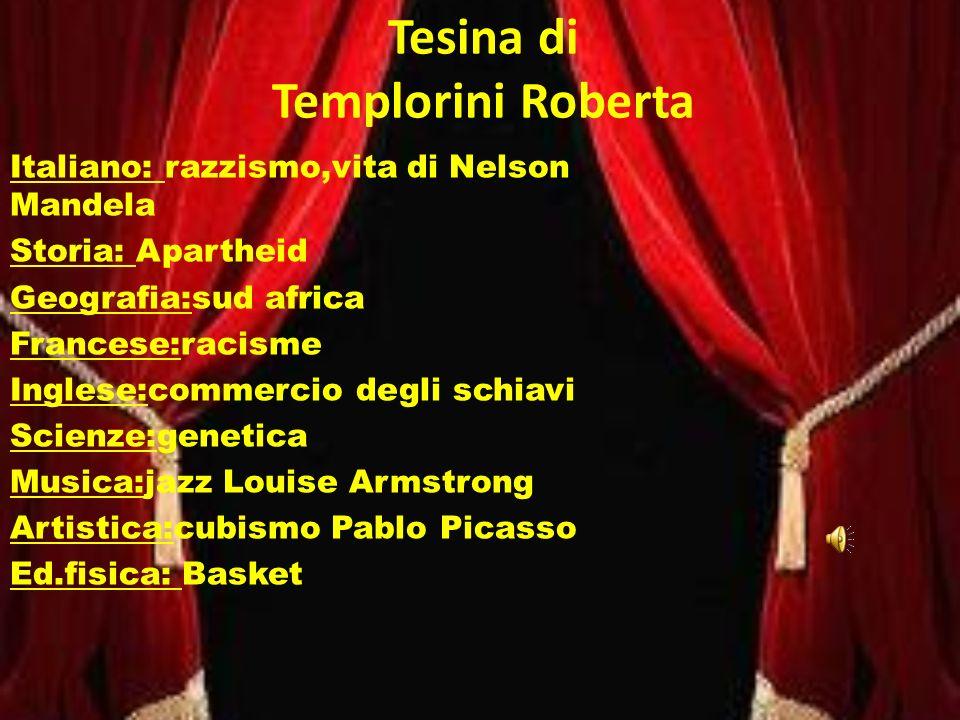 Tesina di Templorini Roberta