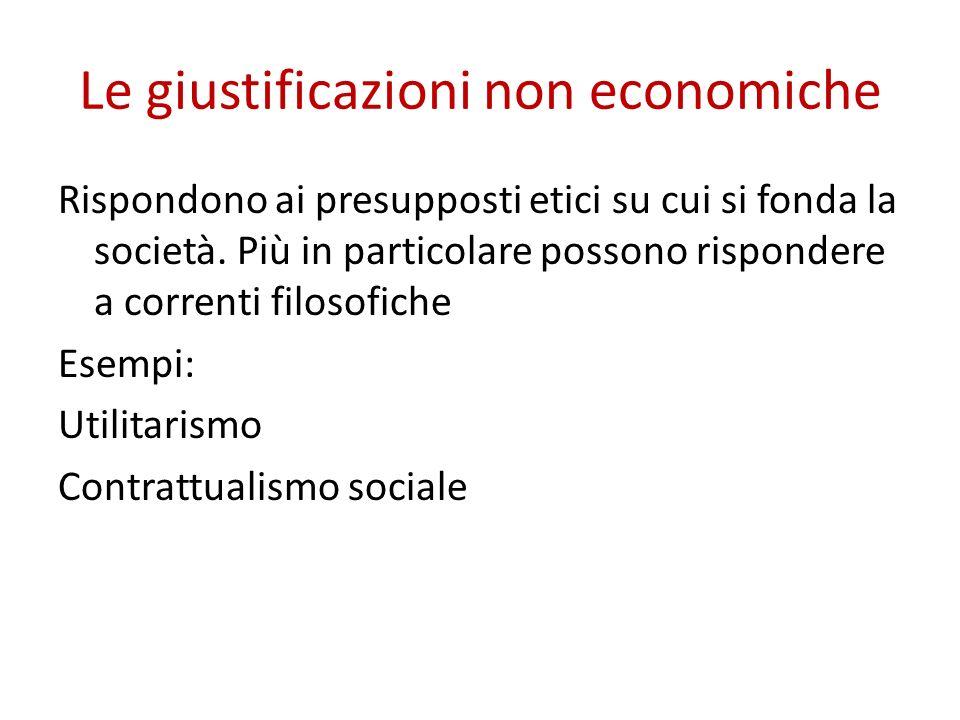 Le giustificazioni non economiche
