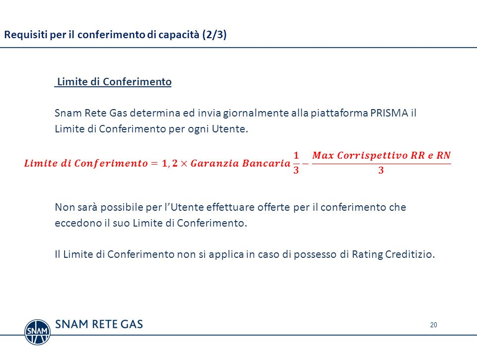 Requisiti per il conferimento di capacità (2/3)