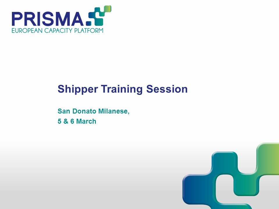 Shipper Training Session