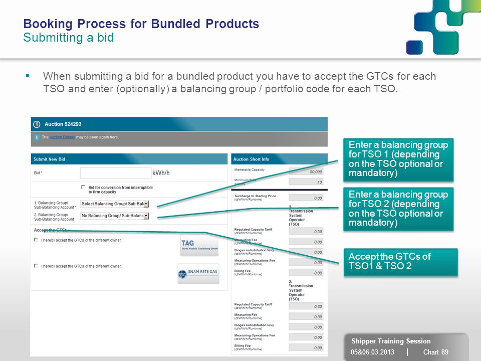Booking Process for Bundled Products Submitting a bid