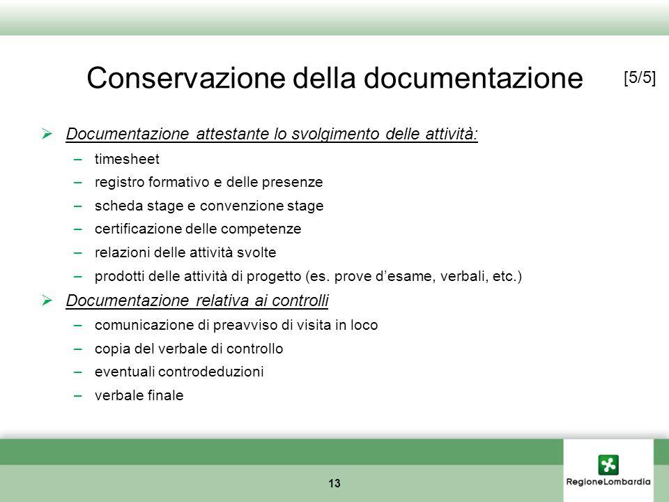 Conservazione della documentazione
