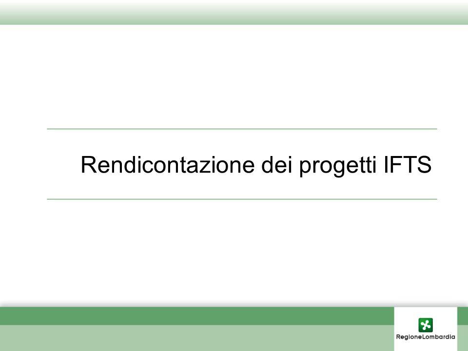 Rendicontazione dei progetti IFTS