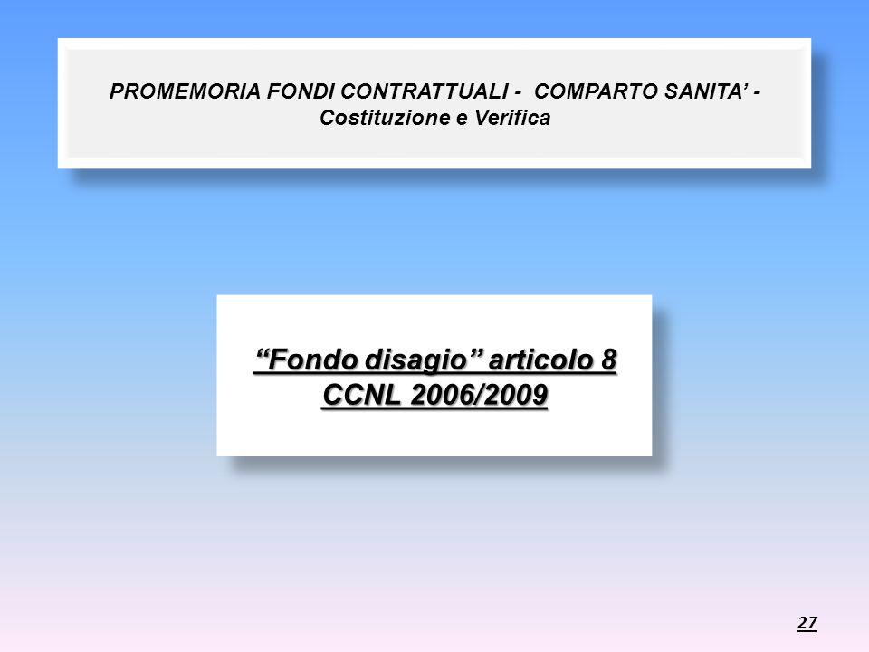 Fondo disagio articolo 8 CCNL 2006/2009