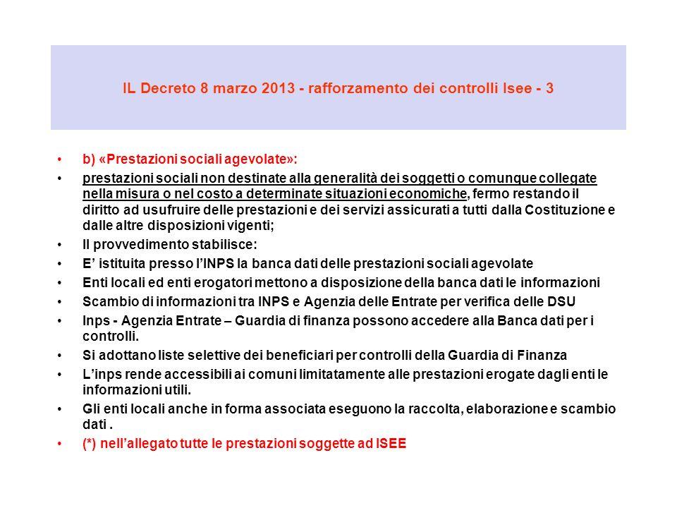 IL Decreto 8 marzo 2013 - rafforzamento dei controlli Isee - 3