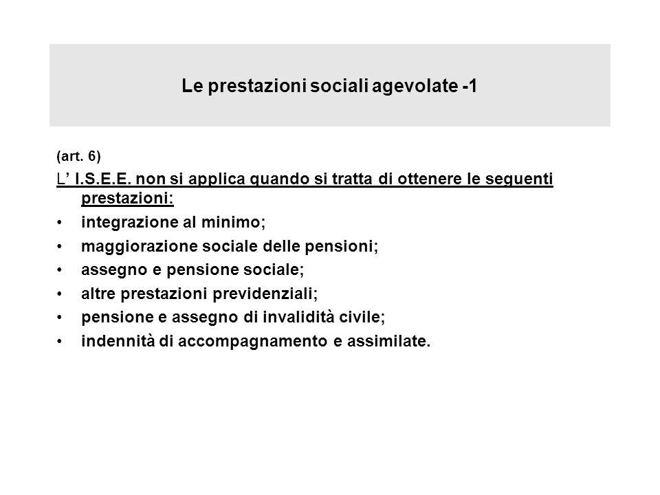 Le prestazioni sociali agevolate -1