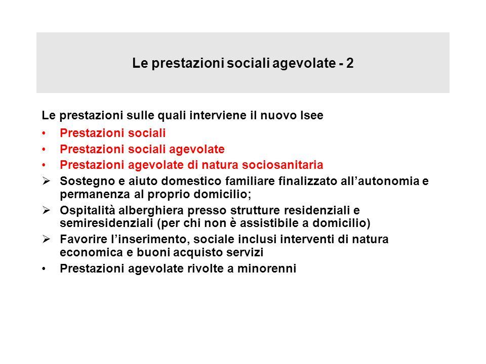 Le prestazioni sociali agevolate - 2