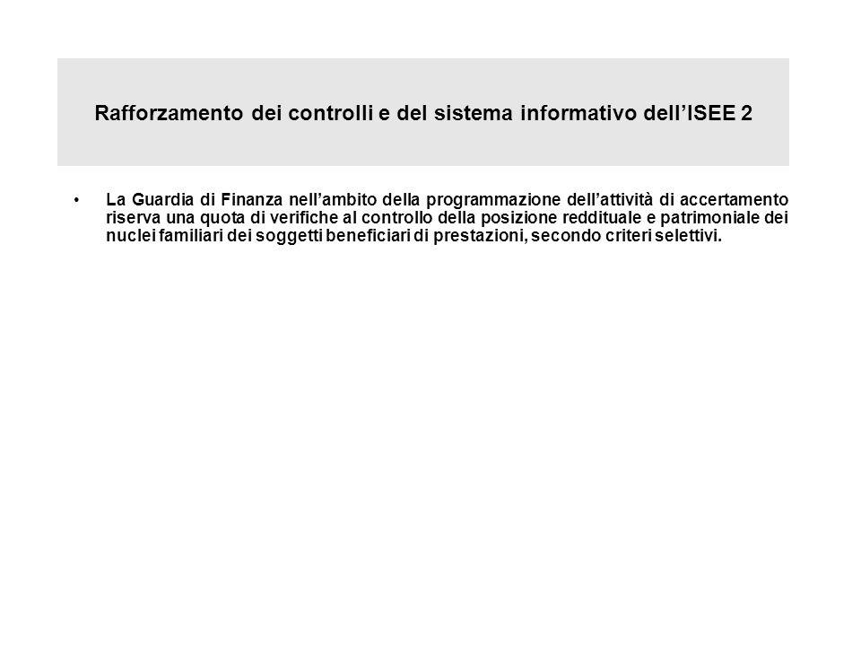 Rafforzamento dei controlli e del sistema informativo dell'ISEE 2